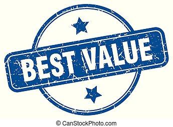 best value round grunge isolated stamp