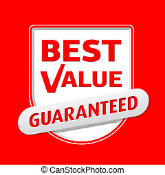 Best Value sign - Vector illustration with easily...