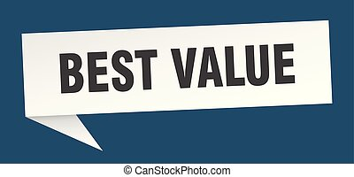 best value speech bubble. best value sign. best value banner