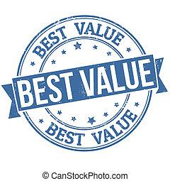 Best value grunge rubber stamp on white, vector illustration