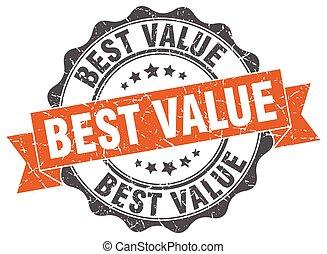 best value stamp. sign. seal