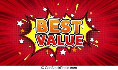 Best Value Text Pop Art Style Comic Expression. - Best Value...