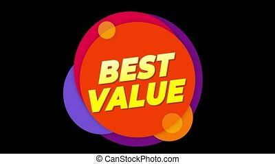Best Value Text Sticker Colorful Sale Popup Animation. -...