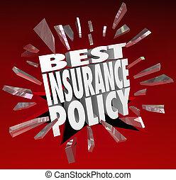 best, verzekeringspolis, woorden, dekking, gezondheidszorg,...