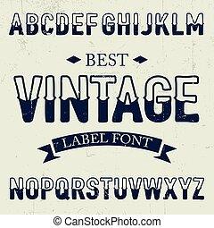 Best Vintage Font Poster