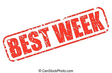BEST WEEK red stamp text