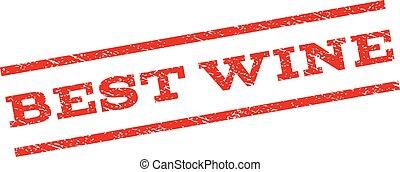 Best Wine Watermark Stamp