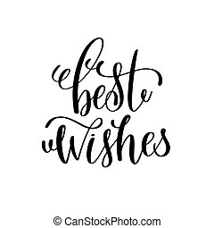 best wishes hand lettering inscription to winter holiday...