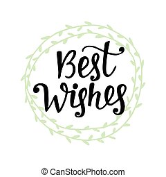 Best wishes. Merry Christmas greeting card