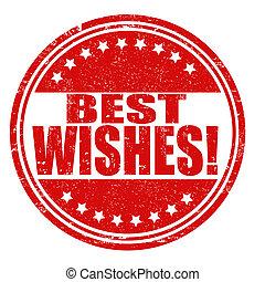 Best wishes stamp