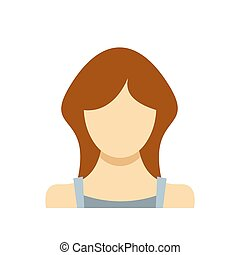 Best woman user icon flat