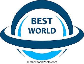 best world globe icon