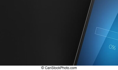 bestand, downloaden, concept, op, smart, telefoon, scherm