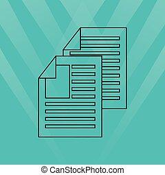 bestand, pictogram, ontwerp