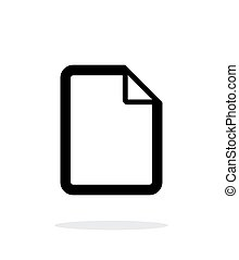 bestand, pictogram, op wit, achtergrond.