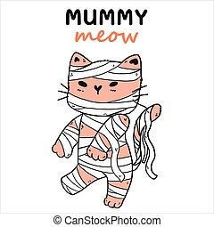 bestand, schattig, idee, mummie, printable, knippen, ...