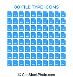 bestand, type, iconen