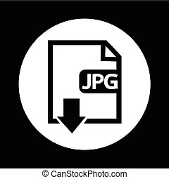 bestand, type, jpg, pictogram, illustratie, ontwerp
