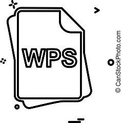 bestand, type, pictogram, ontwerp, vector