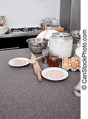bestandteile, für, kochen, küche