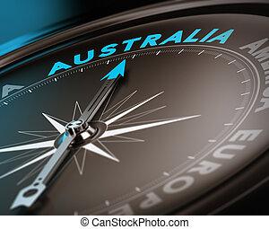 bestemming, reizen, australië, -