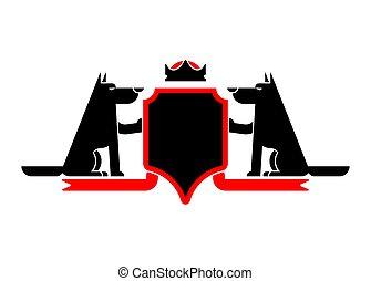 bestia, protector, chamarra, heráldico, símbolo, depredador...