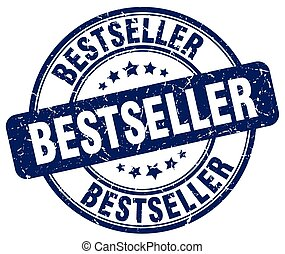 bestseller blue grunge round vintage rubber stamp