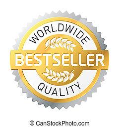 bestseller, etikett