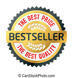 Bestseller label - Bestseller - the best price and quality...