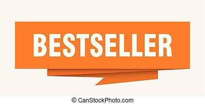 bestseller sign. bestseller paper origami speech bubble....