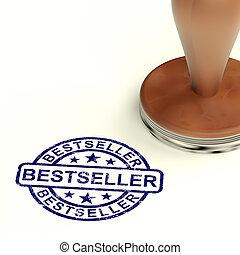 Bestseller Stamp Showing Top Rated Or Leader