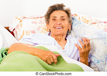 beszéd, öregedő woman