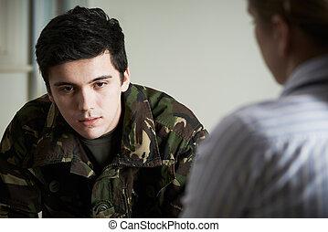 beszéd, erő, tanácsadó, szenvedés, katona