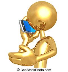beszéd, képben látható, cellphone