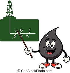 beszéd, körülbelül, csepp, fracking, olaj