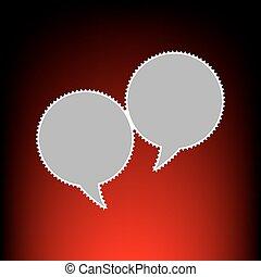 beszéd panama, cégtábla., levélbélyeg, vagy, öreg, fénykép, mód, képben látható, red-black, gradiens, háttér.