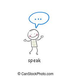 beszél
