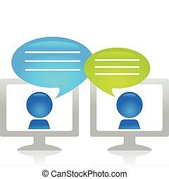beszélgető, internet