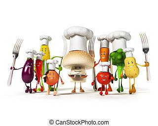 betű, élelmiszer, növényi, -