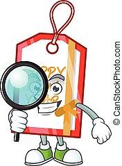 betű, év, új, címke, karikatúra, 1 szem, boldog, mód, nyomozó