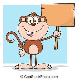 betű, majom, karikatúra