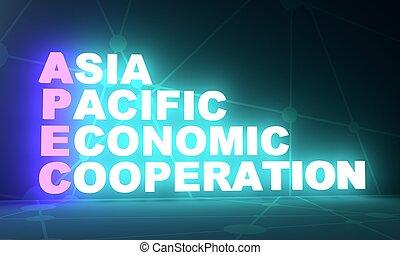 betűszó, gazdasági, ázsia, békés, együttműködés