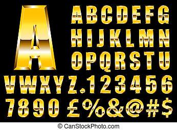 betűtípus, arany