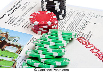 Bet the House Poker Chips Foreclosed Mortgage - Mortgage...