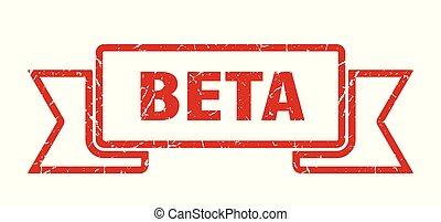 beta grunge ribbon. beta sign. beta banner