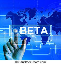 Beta Map Displays an International Trial or Demo Version