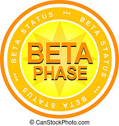 Beta Phase - An illustrated badge that declares a beta...