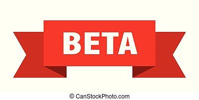 beta ribbon. beta isolated sign. beta banner