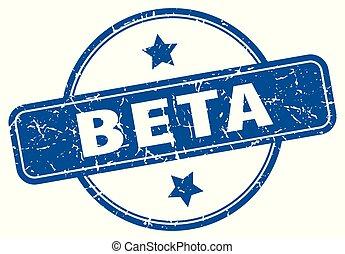 beta round grunge isolated stamp