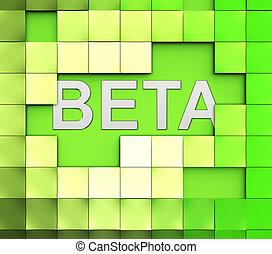 Beta Software Word Represents Versions Version And Shareware...